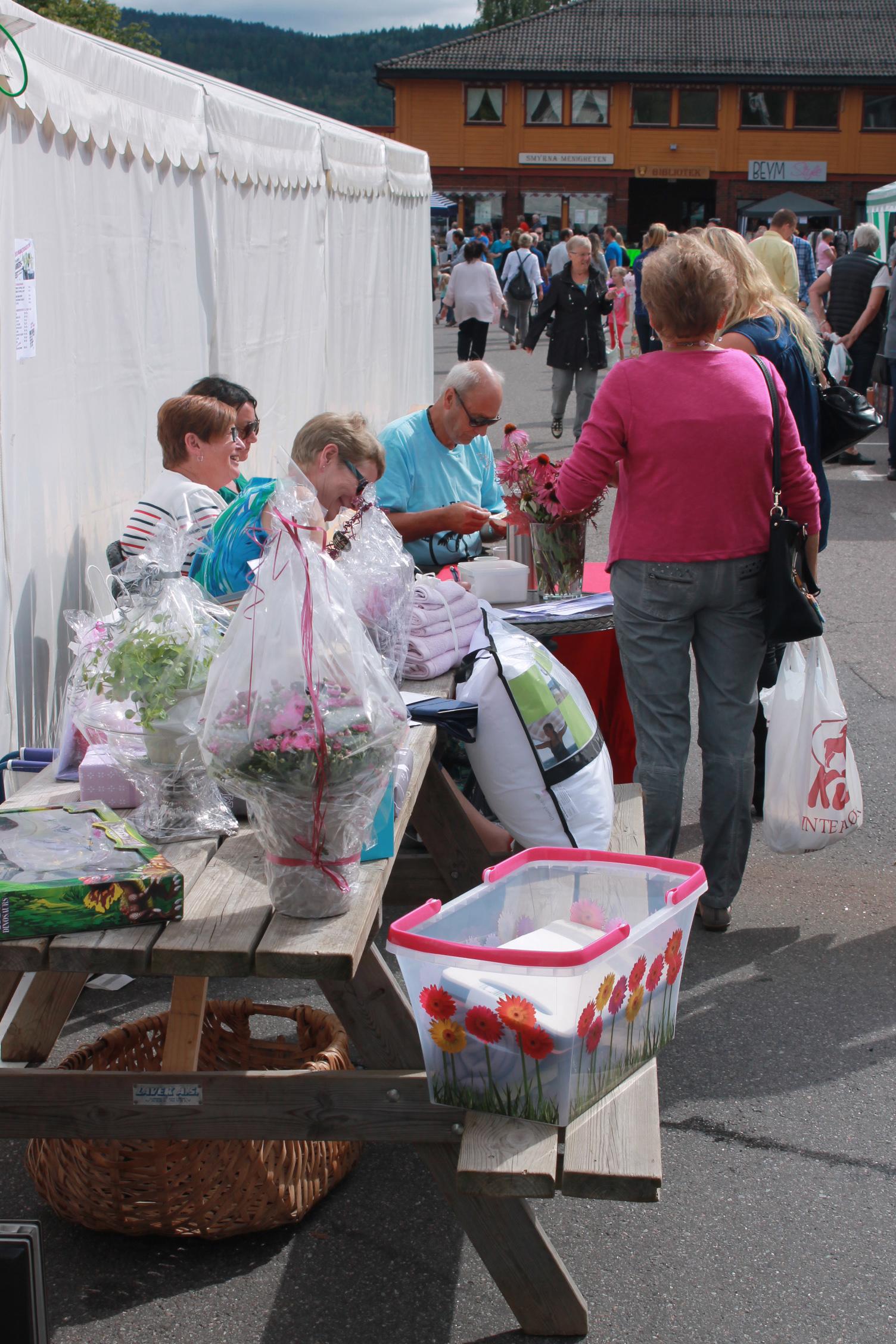 Markedsdag Svarstad 16.08.14 Stand ved telt
